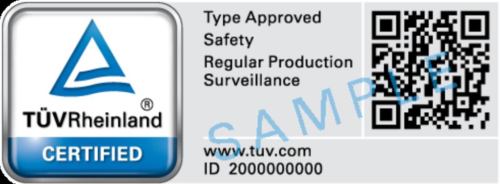 Bauart Mark / Type Approved Mark | UK | TÜV Rheinland
